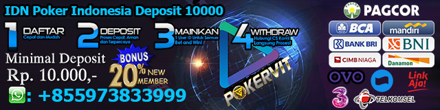 IDN Poker Indonesia Deposit 10000