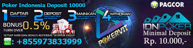 Poker Indonesia Deposit 10000