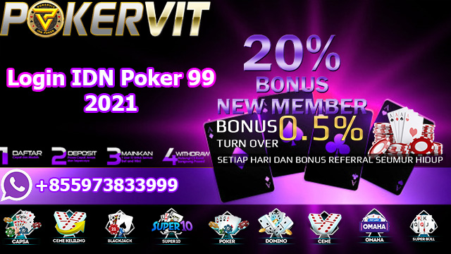 Login IDN Poker 99 2021