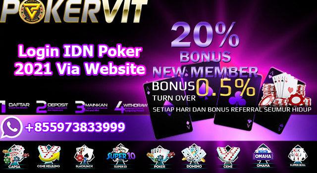 Login IDN Poker 2021 Via Website
