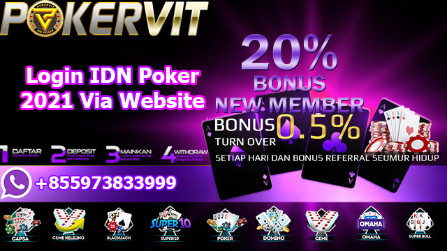 Login IDN Poker 2021 Via Website