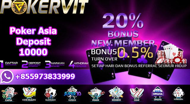 Poker Asia Deposit 10000
