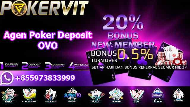 Agen Poker Deposit OVO
