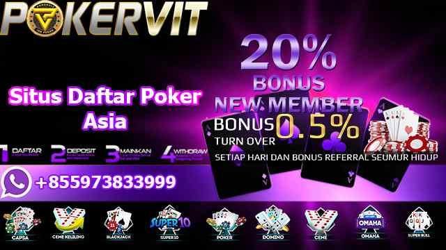 Situs Daftar Poker Asia